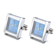 Фотография Jin&Ju Hot Sell Clock Design Jewelry Gentleman Cufflinks Functional Watch Cuff links Real Clock For Mens