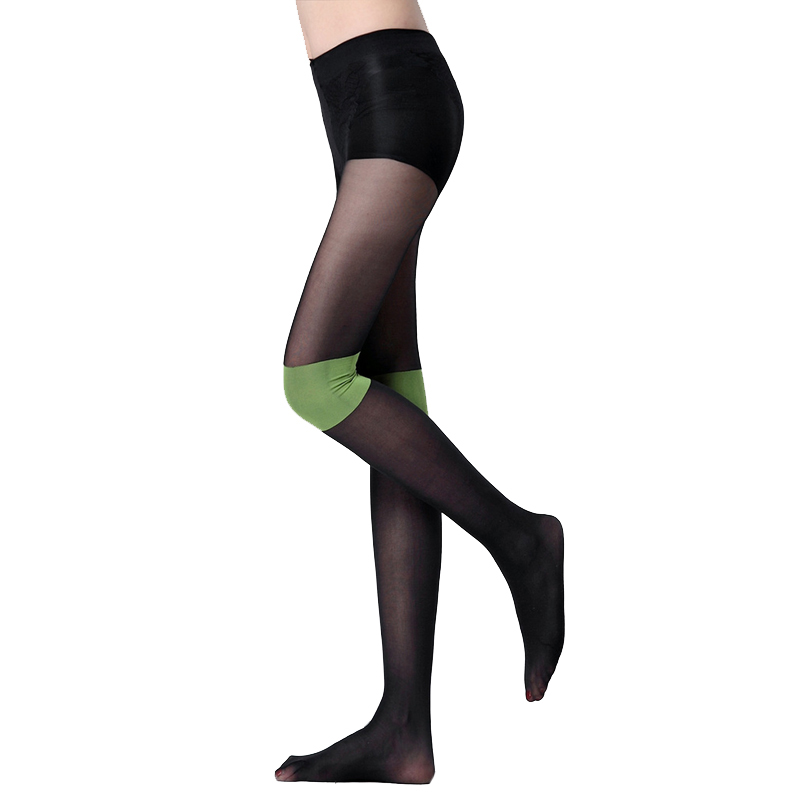 CUHAKCI Sexy Pantyhose Women Tights Patchwork Tights 2018 New Pantyhoses Sexy Stockings Women Fashion Gray Green Hot Sale Thin