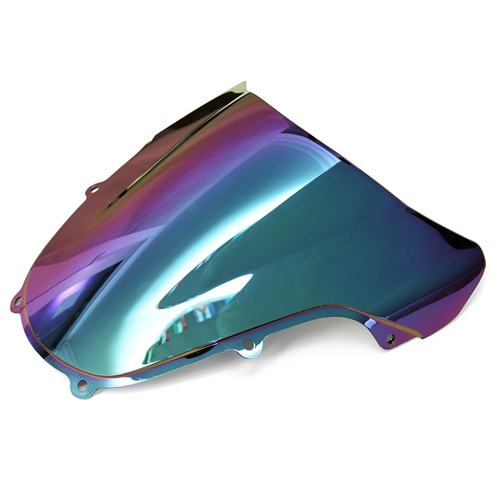 Motorcycle Double Bubble Windshield For Suzuki GSXR 1000 K1 2000 2002 00 01 02 Windscreen Light iridium Magic color cooling radiator for suzuki 2000 2002 gsxr 1000