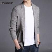 2019 новый модный брендовый свитер для мужчин s кардиган длинный Slim Fit Джемперы Knitred шерстяной Осень корейский стиль повседневная мужская одеж...