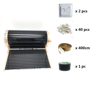 Image 3 - 20m2 Electric Heating Film 50cm 80cm 100cm Width Infrared Floor Heating Film with Wifi Room Thermostat