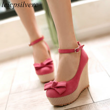 Women Pumps Shoes Super High Heels Sexy New Fashion Wedges P