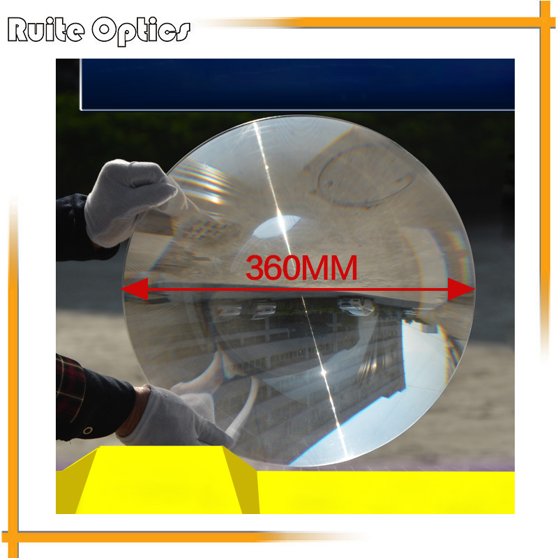 1PC 360mm Large Dia Round PMMA Plastic Big Solar Fresnel Condenser Lens Long Focal Length Plane Magnifier,Solar Magnifying Glass full page magnifying sheet fresnel lens 3x magnification pvc magnifier