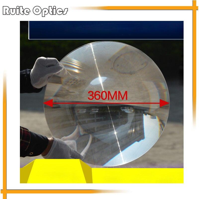360mm grande lentille de Fresnel solaire en plastique optique PMMA longue focale grande loupe de cuiseur de concentrateur d'énergie solaire