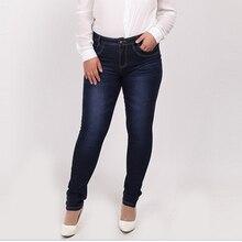 2016 Winter autumn fashion brand plus size jeans blue color casual brand denim pants woman pencil jean trousers L-5XL big size