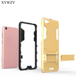 Image 3 - For Cover BBK Vivo Y55 Case Silicone Robot Hard Rubber Phone Cover Case For Vivo Y55 Cover For BBK Vivo Y55 Coque XYWZV