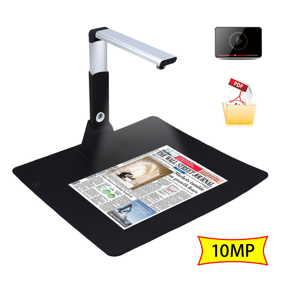 H1000 Portable Haute-Vitesse 10MP 3672*2856 A3 A4 A5 Document PDF Livre Photo ID Carte Vidéo Caméra document Scanner Visualiseur OCR