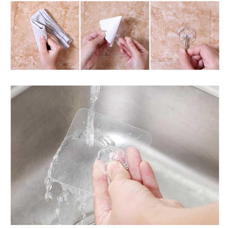 2 adet şeffaf çıkartma Çocuklar için Klasik Oyuncaklar Güçlü Kanca Vantuz Enayi duvar askısı Mutfak Banyo Için