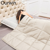 7 кг взвешенный Одеяло для взрослых с тревогой содействия глубокий сон декомпрессии 150x200 см тяжести Одеяло Стекло бусинами тяжелые Стёганое