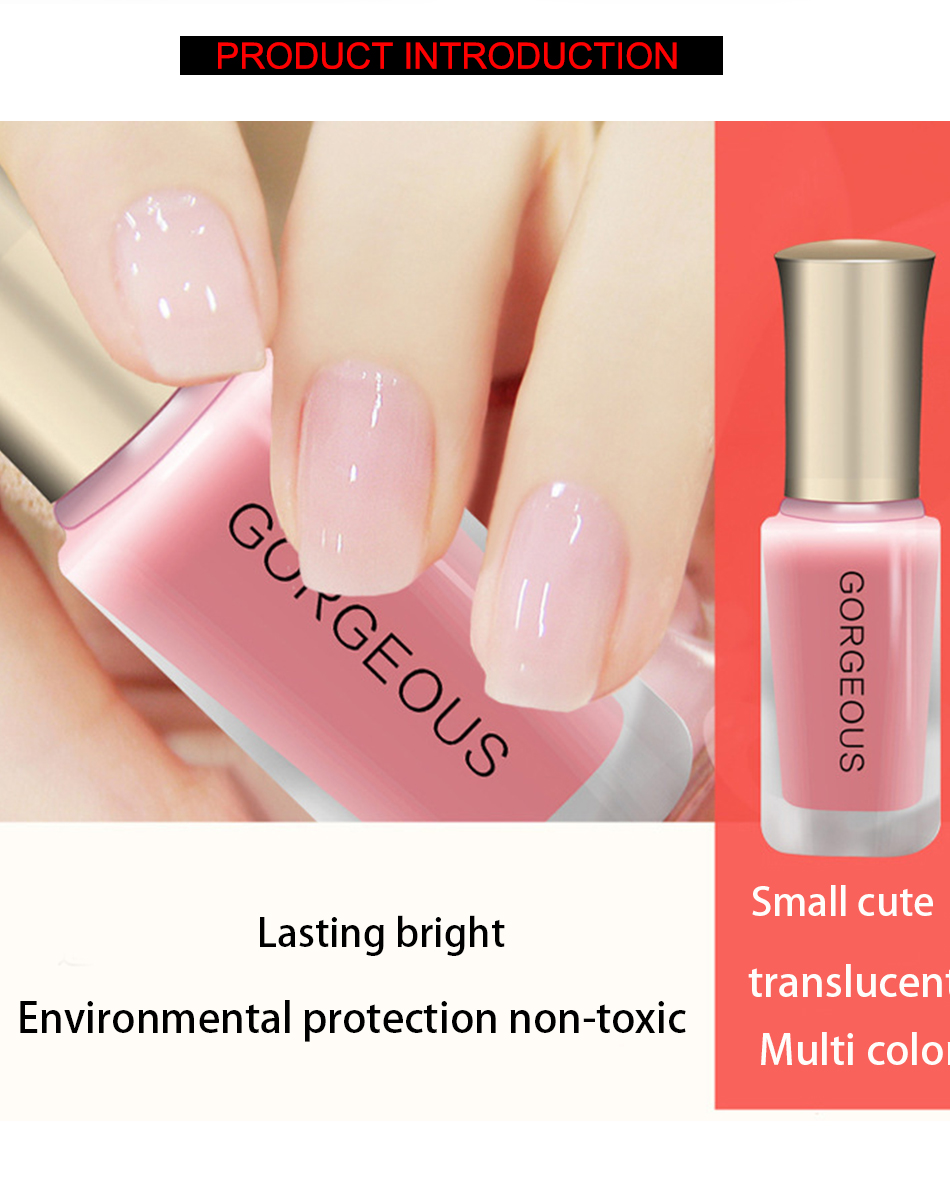 Clearance 10ml nail gel translucent nude nail polish nail jelly name brand translucent nude nail polish 12 colors nail art jelly gel polish lomg lasting gray pink nail varnish paint 10ml prinsesfo Image collections