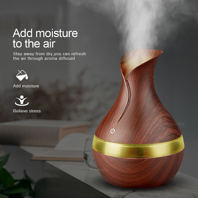 US $13 01 23% OFF|New Aroma Essential Oil Diffuser 300ml USB Mini  Ultrasonic Air Humidifier Sleep Good Aromatherapy Mist Maker for home  workplace-in