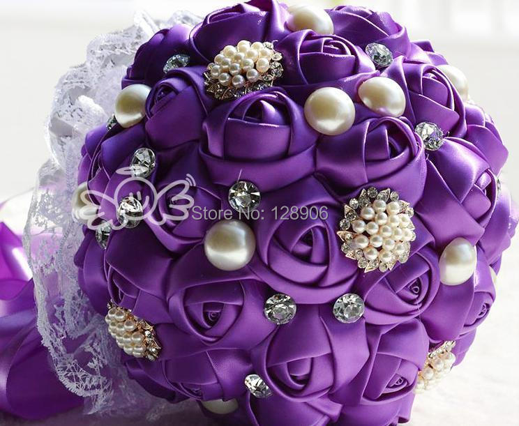 2 bouquets-lavender PÚRPURA BLING RHINESTONE Boda Quinceañera Sweet 16