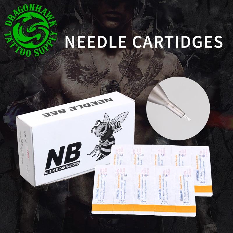 Scatola Di 20 pz Cartuccia Sterili Monouso Aghi Per Tatuaggio Penna Rotante Round Liner Shader Forniture