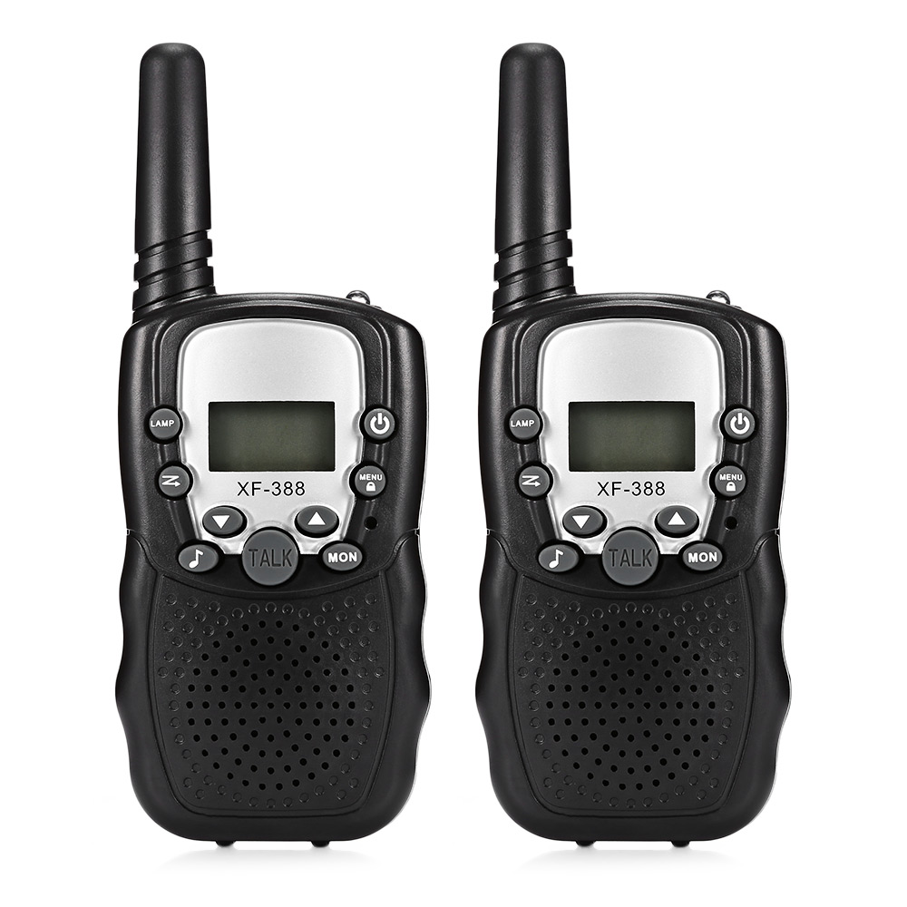 2pcs Children Electronic Toy LCD Backlit Display Walkie Talkies 2-Way Radio Long Range Up To 3KM Range 22 Channels