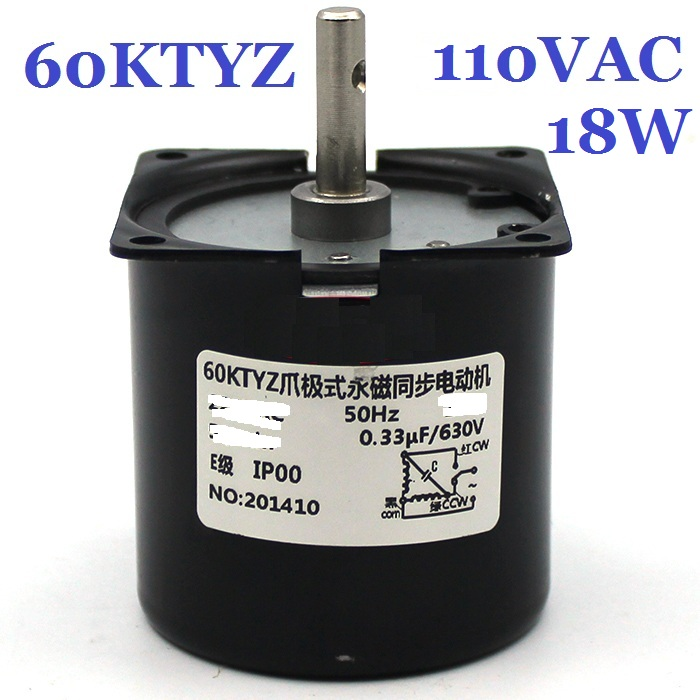 цена на 60KTYZ Gear Motor 110VAC 18W 1-110RPM Low Noise Gearbox Electric Motor Barbecue High Torque Low Speed Synchronous AC Motor