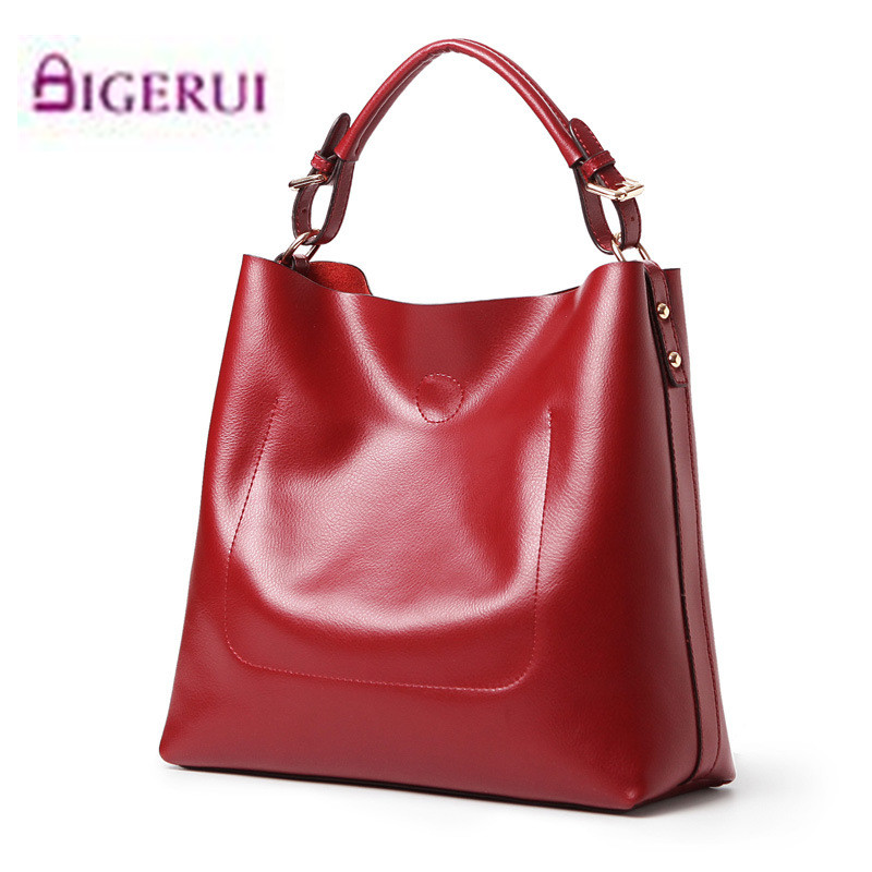 Women Genuine Leather Bucket Bag Female Combination Bag Large Capacity Tote Handbags Shopping Messenger Bags Bolsas Feminina A31 forudesigns casual women handbags peacock feather printed shopping bag large capacity ladies handbags vintage bolsa feminina