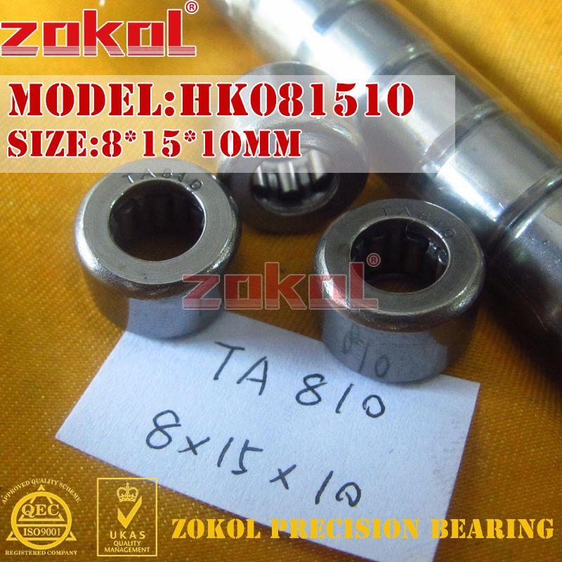 ZOKOL Bearing HK081510 HK081515 TA810 TA815 Needle Roller Bearing 8*15*10mm 8*15*15mm