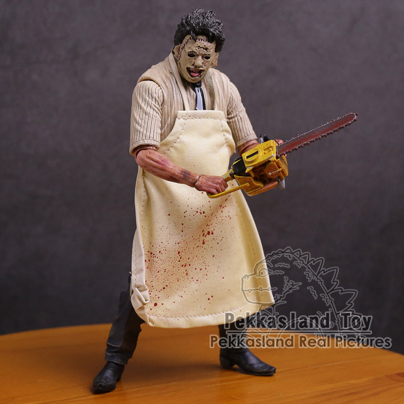 NECA 40th The Texas ChainSaw Massacre Action Figure Leatherface Model Toy With Saw Knife Hammer Horrible Doll genuine mezco texas chainsaw massacre saw massacre pvc action figure collectible model toy christmas gifts free shipping