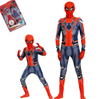 Cosplay Iron spider Spiderman Clothing Jumpsuits/Toys/Cotettes for kids Adult Superhero Warrior Costumes Carnival purim Costume