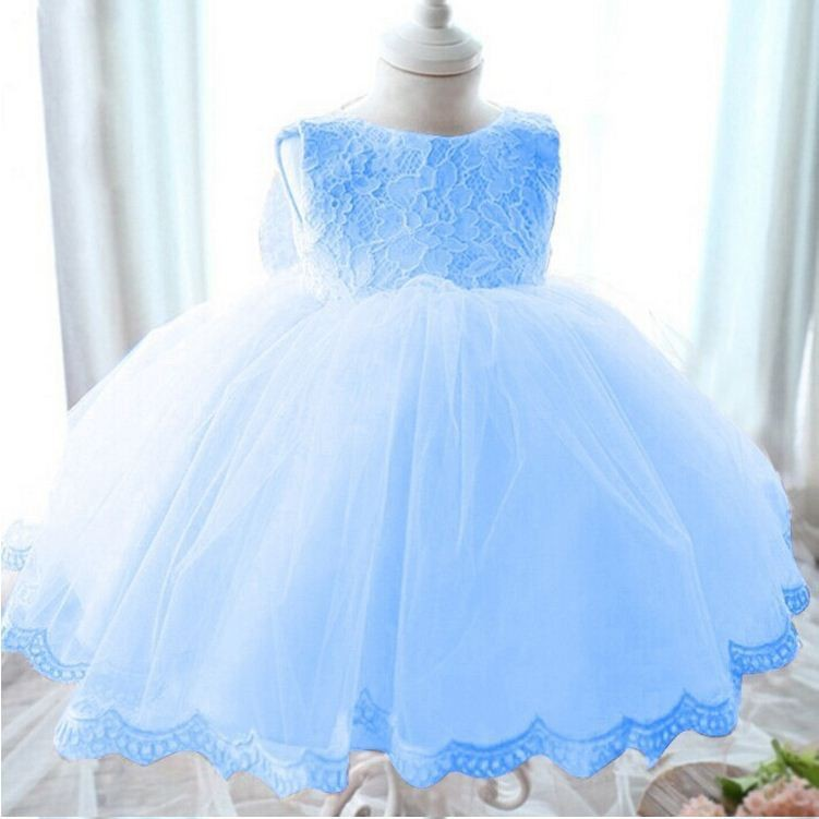 2017 Children Clothing Elegant Girl Dress Girls Summer Fashion Pink Lace Big Bow Party Tulle Flower Princess Wedding Dresses new fashion embroidery flower big girls princess dress summer kids dresses for wedding and party baby girl lace dress cute bow