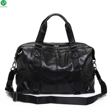 leather men travel bag vintage high quality duffel bag men messenger crossbody bags tote handbag men shoulder Laptop bag