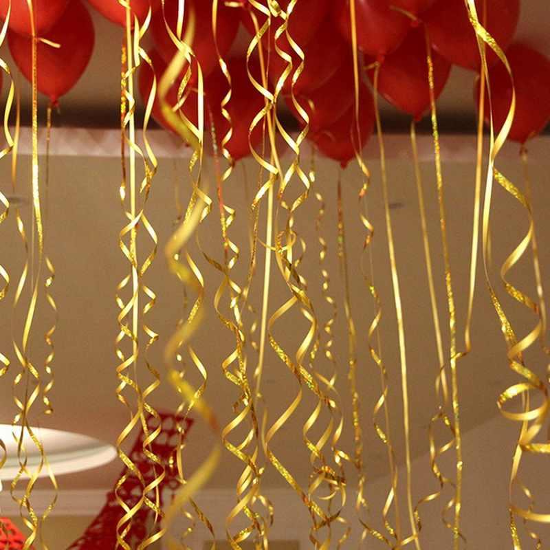 Nova Moda 1 5mm X 100 Metros de Fita de Rolo Da Folha De Alumínio Balão Presentes de Casamento DIY Embalagem Fita Corda Cordas para decoração do partido