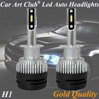 Car Art Club H1 High brightest Car Headlight Bulbs Automotive lamps 12V Cre e ZES chips auto led kits best selling
