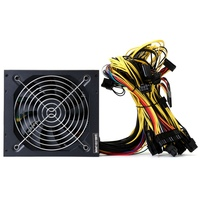 1350W 220V Modular Power Supply For 6 GPU Eth Rig Ethereum Miner 90 Plus Gold High
