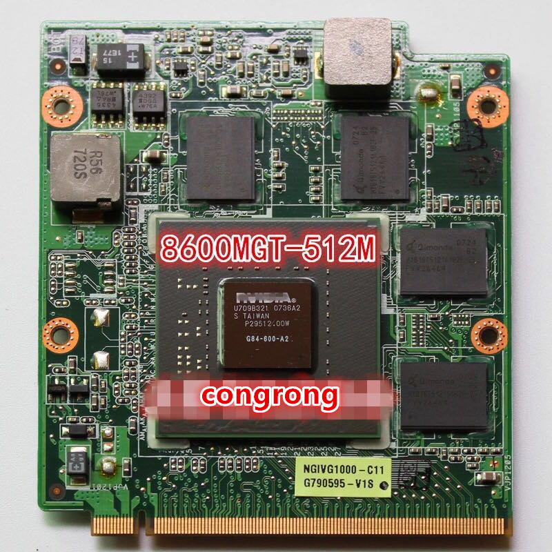 Original 8600MGT 8600M GT 512MB G84-600-A2 Graphics  Video Card VAG Card For Asus A8S F8S V1S VX2 VX2S Z99S X81S F8SV Laptop