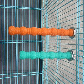 Bird Wood Perch Stand Paw Grinding Stick Platform for Parrot Budgies Parakeet Cockatiels Conure Cage Accessories (Random Color) 5