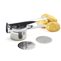 Stainless Steel Potato Masher Ricer Manual Juicer Squeezer Potatoes Mud Pressure Mash Maker Device Kitchen Gadget