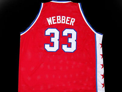 #33 CHRIS WEBBER MCDONALD ALL AMERICAN Retro throwback stitched embroidery basketball jerseys Customize any number and name