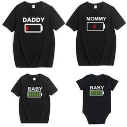 2019 família olhar t camisa combinando roupas novidade bateria t camisa papai mamãe e filha filho bebê irmão irmã engraçado macacão