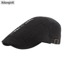 XdanqinX для взрослых для мужчин шляпа хлопок берет Личность молния головной убор украшения язык шапки для Регулируемый разм