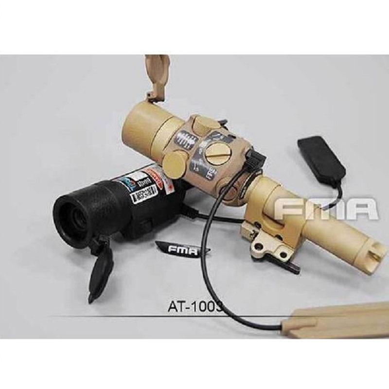 FMA Tactical Airsoft Metal Glare Mount Visible Laser Green light BK/DE дополнительная фара gofl glare of light gl 0470 3311