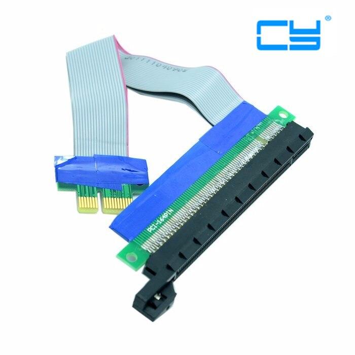 Riser PCI-E pcie PCI-Express PCI Express 1x 16x pci-e pcie x1 x16 Extension Flex Cable Extender Converter Riser Card Adapter pci