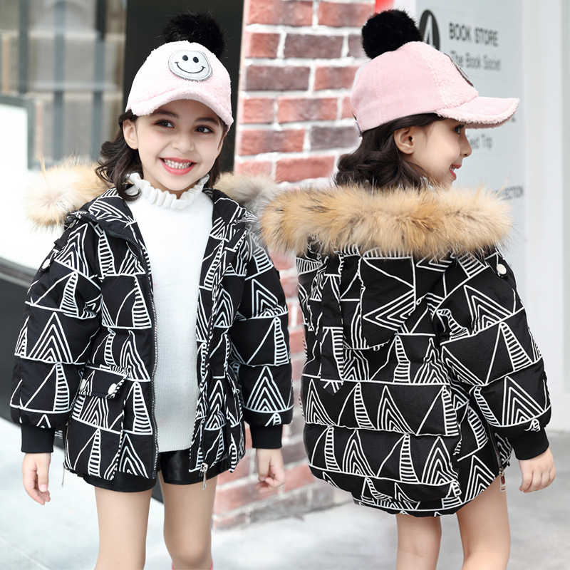 2018 Winter Solid Coat Warm Kids Outwear Hooded girls down jacket duck down Boys Girls Cotton Coat Kids Duck Down Coats women winter coat jacket 2017 hooded fur collar plus size warm down cotton coat thicke solid color cotton outerwear parka wa892