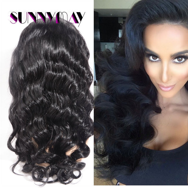 Stock Body Wave Brazilian Virgin Hair Full Lace/Lace Front Wigs Human Hair Wigs Bleached Knots Natural Color Lace Wigs