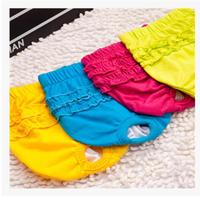 Pet Dog Sanitary Pants Short Striped Drawstring Physiological Pants Pet Underwear Dog Diapers Health Physiological Cottoon