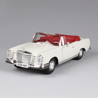 1 18 Diecast Car 1967 280SE W111 Coupe White Classic Cars 1 18 Alloy Car Metal