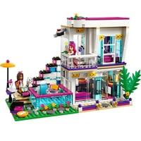 9985 Friends Girl Series 601pcs Building Blocks kids toys Livi's Pop Star House Designer toy gifts Compatible Friends 41135