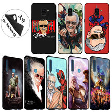 IYICAO Stan Lee Marvel Soft Silicone Cover Case for Samsung Galaxy A6 Plus A9 A8 A7 2018 A3 A5 2016 2017 Black Cases Note 9 8 все цены