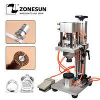 ZONESUN Parfum Pneumatique Machine de Liage Capsuleuse Machine de Cachetage de Bouchon En Métal Presse Machine Parfum Capsuleur Parfum Machine de Capsulage