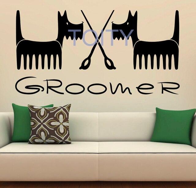 Pet Grooming Wall Decal Vinyl Stickers Interior Salon Design Art Murals Bedroom Decor