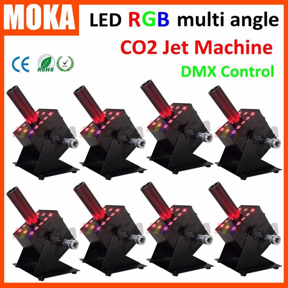 8 pièce/lot 600 W puissance DMX512 Cryo Jet Machine à brouillard discothèque Angle facile petit Co2 jets brouillard Jet canon Mini LED rvb Triple couleurs|rgb to video adapter|rgb led common anode|dmx512 decoder - title=