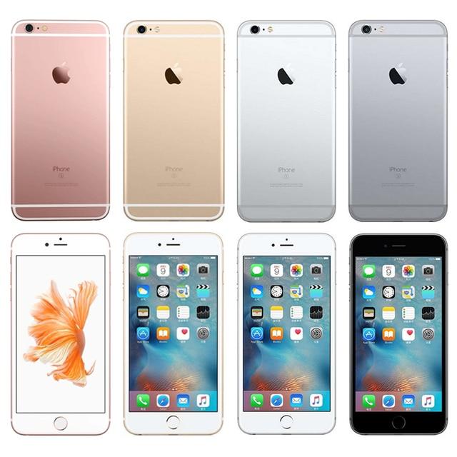 100% Original Unlocked iPhone 6s Plus 5.5 Inches Dual Core 2GB RAM 16/64GB ROM IOS 12MP Camera Fingerprint LTE 4G Mobile Phone 2