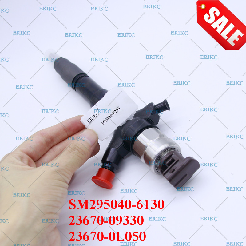 ERIKC injection SM295040 6130 fuel pump truck parts inyector nozzle 23670 09330 and common rail diesel injectors 23670 0L050