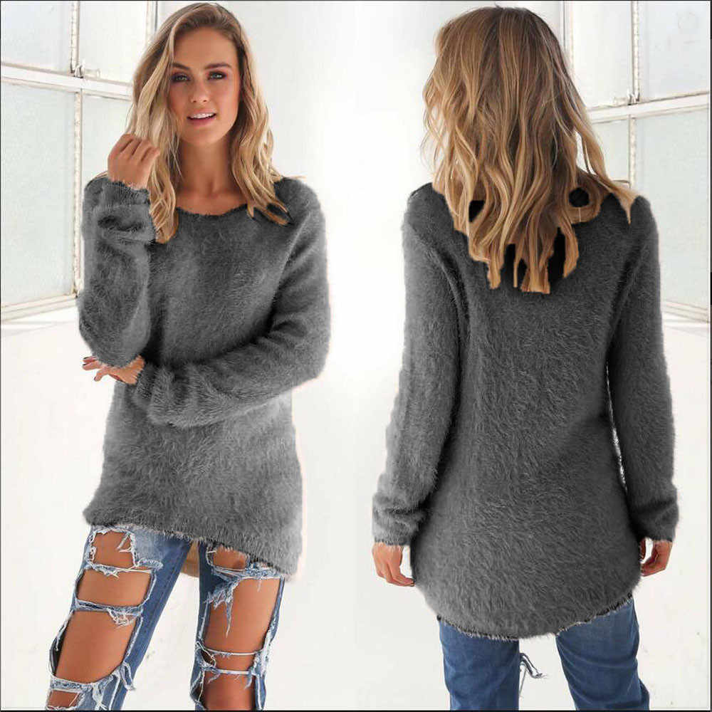 Autumn winter women sweaters and pullovers korean style long sleeve casual  crop sweater slim knitted jumpers fb30494f37e8