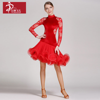 Elim Thin Recommended For Adult Latin Dance Latin Dance Clothing GB056 High Quality Velvet Dress