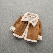 Кожаная теплая меховая куртка для маленьких мальчиков, теплое зимнее пальто для малышей, Детская верхняя одежда